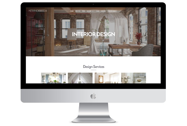 web design london interior desdign screenshot