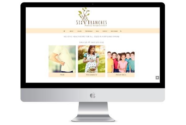 web design london acupuncture screenshot