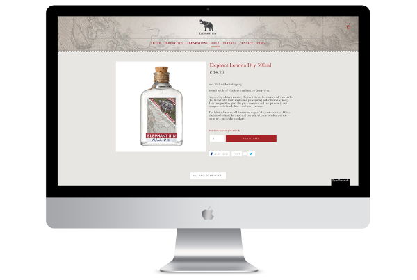 Custom Shopify Development for Elephant Gin