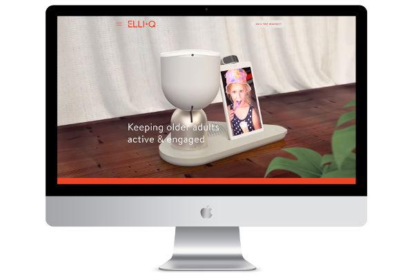 Custom Shopify Landing Page for Elli Q Robot Launch