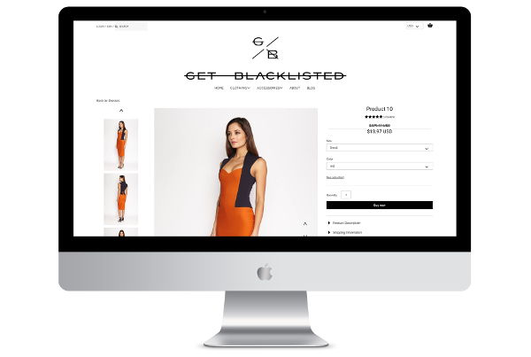 Custom Shopify Design & Development for a London Fashion Store